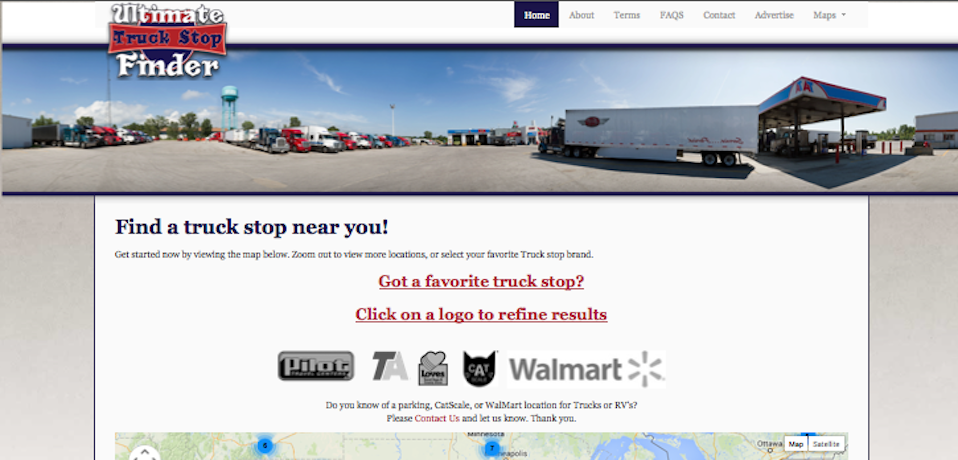 Matrix Web Designers Web Design At Its Best - Map of truck stops in us