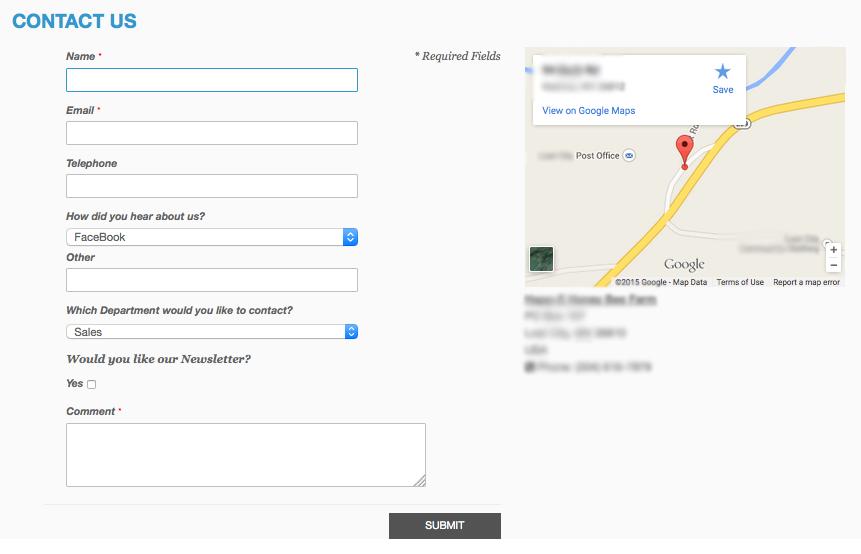 Custom Magento Contact Form